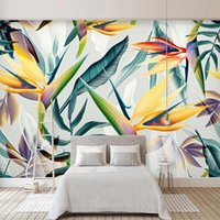 Wallpapers Custom 3D Mural Wallpaper Hand Painted Abstract Green Leaf El Bedroom Living Room Decor Waterproof Canvas Painting Wall Art