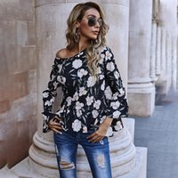 Women's Blouses & Shirts Ladies Blouse Fashion Casual Chiffon Long Sleeve Floral Print Loose Top Female Mujer 2021 Spring Shirt Autumn