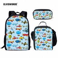Elviswords Bambini School Bag Cartoon Toy Stampa Zaini School Set per Boy Girls Kindergarten Bambini Book Book Borse Q8A4 #