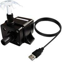 Luftpumpar Tillbehör USB Submersible Vattenpump, Ultra Tyst Energibesparing För Pond, Akvarium, Fisk Tank Fontän, Liten pump