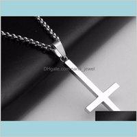 Croce invertita di St Peter in acciaio in acciaio in acciaio 316lStainless collana pendente in acciaio lucifero satana moda vintage punk gioielli pczre lqih2