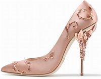 مصمم L-O-g-o الزفاف أحذية الكعب العالي 10 سنتيمتر أزياء الوردي النساء عدن المعادن زهرة مضخات الأحذية لحضور الزفاف مساء حزب حفلة موسيقية الأحذية مع مربع