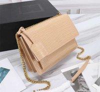 Luxury Designe Bags Top Quality Crocodile-Embossed 22cm Bag High Quality Sunset Genuine Leather Bag Dustbags Alligator Shoulder Corssbody
