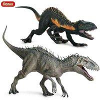 Jurásico Indominus Rex Velociraptor Figuras de acción salvaje Tyrannosaurus Dinosaurio Mundo Modelo PVC Colección Niño Juguete 210730