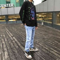 Crosin Mkszy's own CH19 Niuwang Cross Leather embroidered straight jeans Brand CCYE