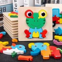 Puzzles de bebé 3d rompecabezas juguetes de madera para niños dibujos animados animal tráfico rompecabezas inteligencia niños entrenamiento educativo temprano juguete fy9405