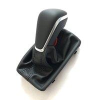 Perilla de cambio de engranaje negro con bota de cuero Gaiter LHD en Auto Trans solo para nuevo A7 A6 PA Style C7