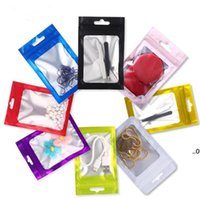 Colorful Resealable Smell Proof Bags Foil Pouch Flat Bag Mylar Aluminum Packaging For Party Favor Food Storage Zipper Bag EWA7470