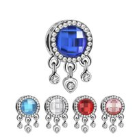 Silver Rhinestone Dream Catcher Charm Beads Fit Orginal Pandora Bracelets Necklaces Women DIY Jewelry Making
