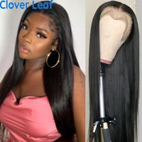 Lace Wigs Straight Frontal Wig 13X4 Front Remy Brazilian 250% Bone Human Hair 4x4 Closure Preplucked
