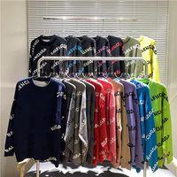 Мужские женские дизайнерские свитер буквы пуловер мужские капюшоны с длинным рукавом активная толстовка вышивка трикотаж зимняя одежда 21ss v13
