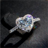 Vecalon Classic 925 Sterling Silver Bague Ensemble Ovale Coupe 3CT Diamant CZ Engagement Bandes De Mariage Pour Femmes Bridal Bijoux
