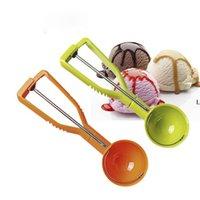 Cuillère glacée cuillère glace boule de glace glaçons crème de crème de glace Stack rond fruit puis cuillère cuillère cuillère cuisine outils accessoires BWD9868