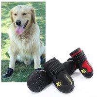 4 pçs / set cão de estimação sapatos reflexivo botas de cão impermeável Botas de neve quente chuva animais de estimação botinhas Anti-Slip meias calçados para médio grande cão
