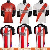 플레이어 Versio 20 21 River Plate Home Jersey Soccer Martínez Borré Scocco Suárez Fernandez Humanrace Pratto 2020 2021 3 번째 축구 셔츠
