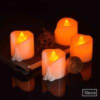 새로운 전자 CR2450 배터리 2 키 원격 제어 LED 촛불 램프