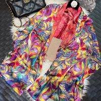 Scarves Luxury Pure Silk Shawl Scarf Fashion Brand Bottons Long Wraps Spring Fall Ladies 100% Neck Foulard