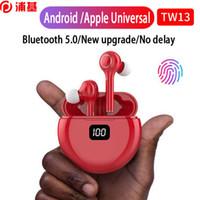 TWS Mini Smartphone Gürültü Iptal Kablosuz Kulaklık Bluetooth 5.0 Stereo Kulaklık Kulakiçi Kulaklık Tüm Telefon Için Mikrofon Ile TW13