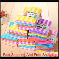 5Pcs Lot High Efficient Anti-Grease Color Dish Cloth Fiber Washing Towel Magic Kitchen Cleaning Wiping Rags Wholesale K8J6P 692Wv