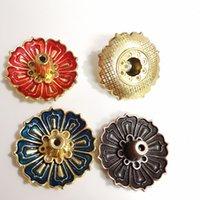 9-buracos queimadores de incenso de lótus titular titular flor de cobre placa de cobre para varas de ar fresco cone casa quarto toliet decor 483 v2