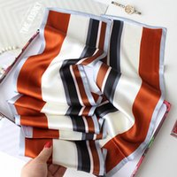 Simple Graceful Striped Double-Layer Mulberry Silk Silk Scarf Womens Ribbon All-Match Multifunctional Long Scarf