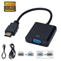 HD 1080 P HDMI uyumlu VGA Adaptörü Dönüştürücü Kablosu Xbox PS4 PC için PC Dizüstü TV Kutusu için Projektör Ekran HDTV