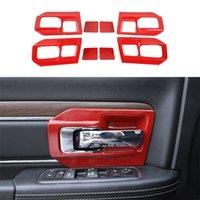 ABS-Autotürinnen-Griff-Schüssel-Dekoration rote Abdeckung für Dodge RAM 2011-2017 Auto Innenausstattung