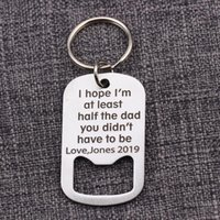 Keychains Customized Name 2021 Engraved I Hope Am At Least Half The Dad You Didn`t Have To Be Love Key Ring Gifts Keychain Crokscrew