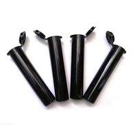 Wholesale Childproof Vapes Cartridges Packaging Tubes Bag 0.5ml 1ml Plastic Tube Black Color For Thick Oil Cartridge Vape Pen