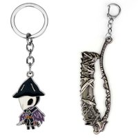 Game Bloodborne Saw Hunter Badge Key Chains Dark Souls 3 Figure Keychains Sun Sollar Fire Keeper Knight Keyring Key Ring Holder