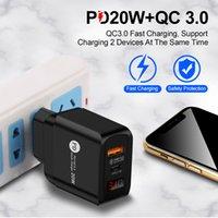 LED-Anzeige Typ-C Typ C 20W PD und QC 3.0 Fast Wall Telefon Ladegerät mit US EU UK-Plug für Pro x 11 12 Xiaomin Huawei Mobiler Mobiltelefonadapter MQ50