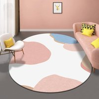 Carpets Thick Oval Rugs Nordic Living Room Modern Bedroom Rug Warm Floor Mat Anti-slip Home Area Carpet Kid