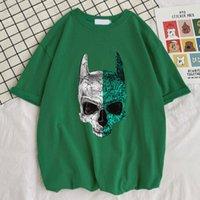 Men's T-Shirts Bat To The Bone Skeleton Print Funky Loose T Shirt Style Vintage Tshirt Retro Funny Mens Short Sleeve