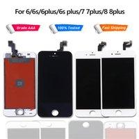 Оценка A +++ для iPhone 6G 6S 6P 6SP 7G 8G 7 PLUS 8 плюс ЖК-дисплей Сенсорный экран Digitizer Сборка замены ЖК-сенсорная панель 100% тестирована