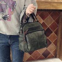 Shoulder Bags 2021 Arrived Women Real Split Suede Leather Bag Casual Handbags Messenger Top-handle Travel Back Packs