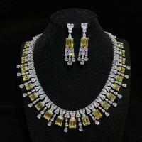 I gioielli HBP Fashion Shi Pei esagerano collane in argento sterling 925, diamante di lusso delle donne intarsiato, lusso, nobile e popolare collana grande