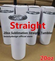 직진!!! 20 온스 승화 텀블러 짚 스테인레스 스틸 물 병 더블 절연 컵 머그잔 생일 파티 선물 빠른 배송