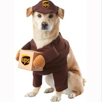 Dog apparel Courier Cosplay hat Cat Funny Pet coat Role playingn Express Package Pirate Suit Halloween Clothes