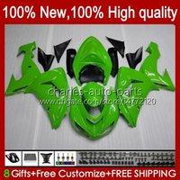 OEM Bodywork For KAWASAKI NINJA ZX1000 ZX-10R ZX1000CC 06-07 Moto Body 14No.22 ZX 10R 10 R 1000 CC 1000CC 2006 2007 ZX10R 06 07 ZX1000C 2006-2007 Fairings stock green