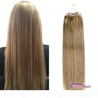 Gesunde Tipps Micro Perlen Haarverlängerungen # 10 Medium Golden Braun Gerade Brasilianische Remy Human Hair Loop-Mikro-Ring-Auswanderer 50g 0,5g s