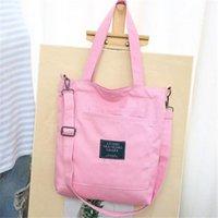 Duffel Bags Eco Foldable Canvas Handbag Women Reusable Shopping Bag Large Folding Tote Unisex Blank Original Design