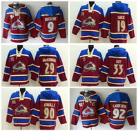 Mens Colorado Avalanche 92 Gabriel Landeskog Patrick Roy 19 Joe Sakic Nathan Mackinnon Matt Duchee Ryan Oreilly Hoodies Jersey Sweatshirts