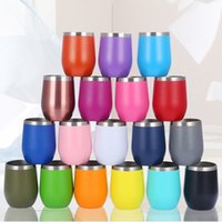 12oz Water Mug Wine Tumbler Powder Coated Coffee Mugs Double Layer Insulated Beer Cup by sea T2I52980