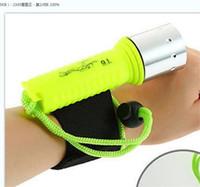 Großhandel Hohe Qualität 2000LM CREE XM-L T6 LED wasserdichte Unterwasserlampe Tauchen Taschenlampe LED Licht Fackel von 18650 Batterie 70 x2