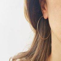 Luxury Dangle Chandelier Ultra Light and Ultra-fine S925 Sterling Sier Plated 14k Gold Large Ring Earrings Handmade Female Exaggerated Earrings
