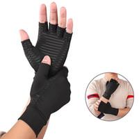 Luvas de Artrite de Compressão Meio dedo Fitness Reabilitação Relevo Mão Dor Luvas de Pressão para Esportes e Office 182