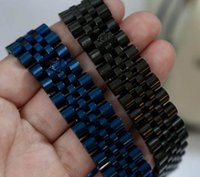 1.7 cm genişlik watch zinciri taç bilezikler için bilezik erkekler dar bir kadın boyutu 316L paslanmaz çelik moda takı ps8205