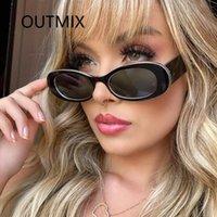 Güneş Gözlüğü Outmix 2021 Kare Seyahat Küçük Dikdörtgen Kadınlar Vintage Leopar Kadın Güneş Gözlükleri UV400