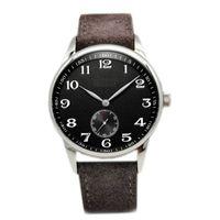 Yüksek Kaliteli Erkek Saatler Alman Craft Otomatik Mekanik İzle Deri Kayış İş Erkekler Izle Lüks Saatı Montre de Luxe