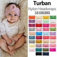 Baby Hair Headband Nylon Wide Soft Round Ball Donut Shape 38 Color Fashion Accessories